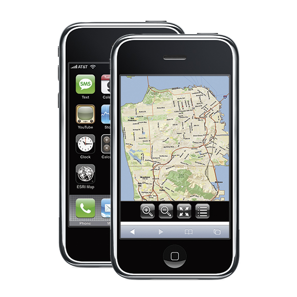 iPhone mapping interface design